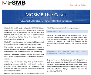 MoSMB Uses Cases Solution Brief v1.1