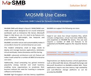 MoSMB Uses Cases Solution Brief v1.1
